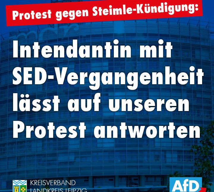 Intendantin mit SED-Vergangenheit lässt auf unseren Protest antworten