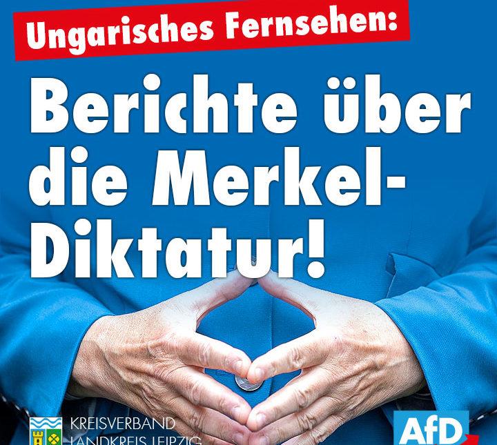 Ungarisches Fernsehen: Berichte über die Merkel-Diktatur!