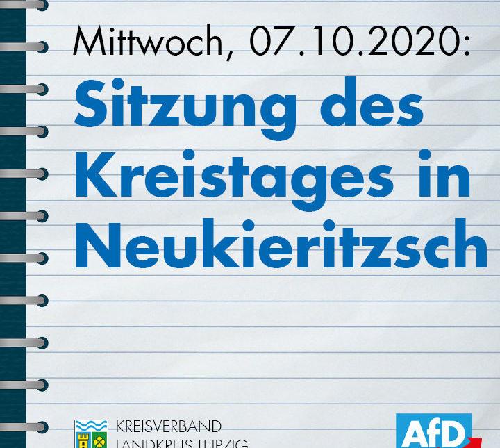 7. Sitzung des Kreistages in Neukieritzsch