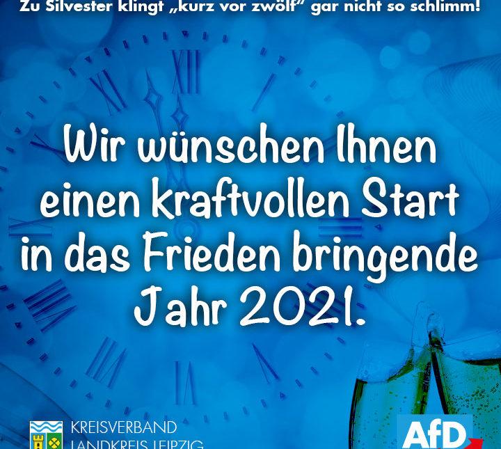 Wir wünschen Ihnen einen kraftvollen Start in das Frieden bringende Jahr 2021.