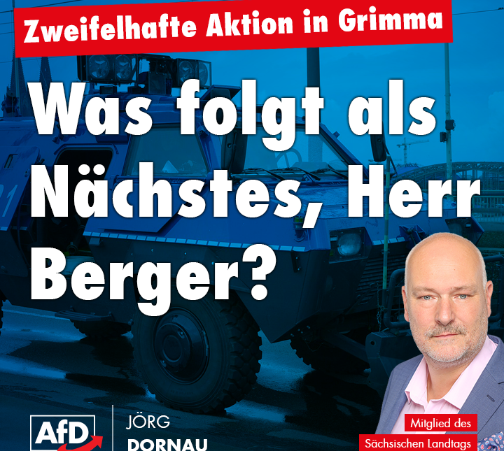 Was folgt als Nächstes, Herr Berger?