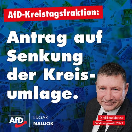 Antrag der AfD-Kreistagsfraktion auf Senkung der Kreisumlage!