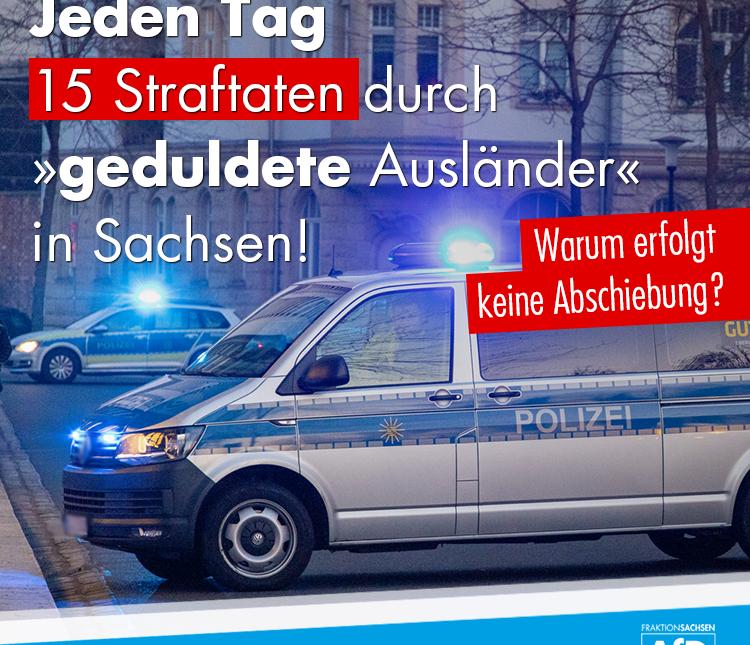 Allein in Sachsen - 15 Straftaten durch Ausländer jeden Tag