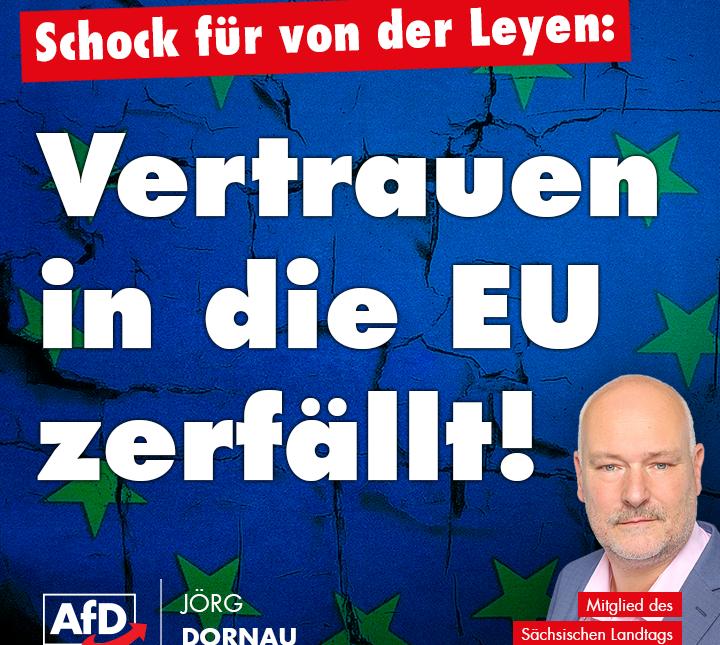 Vertrauen in die EU zerfällt