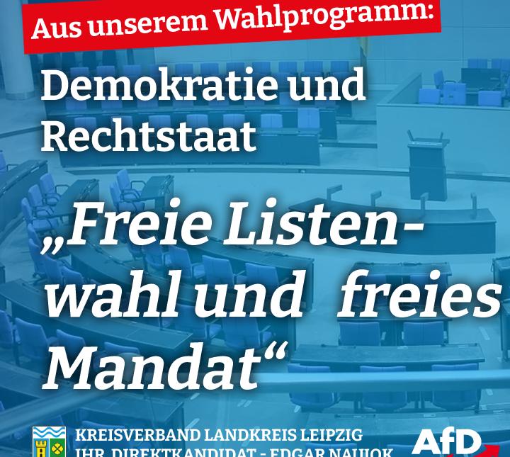 Freie Listenwahl und freies Mandat
