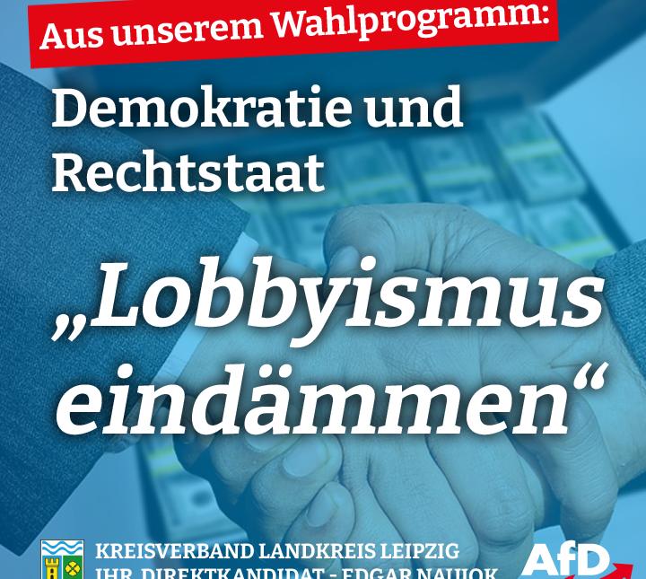 Lobbyismus eindämmen