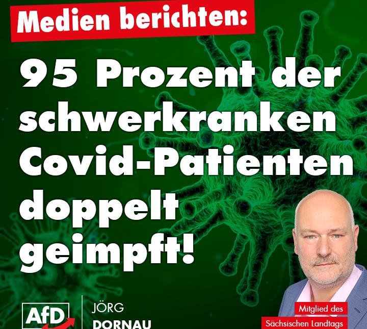 95 Prozent der Schwerkranken Covid-Patienten doppelt geimpft