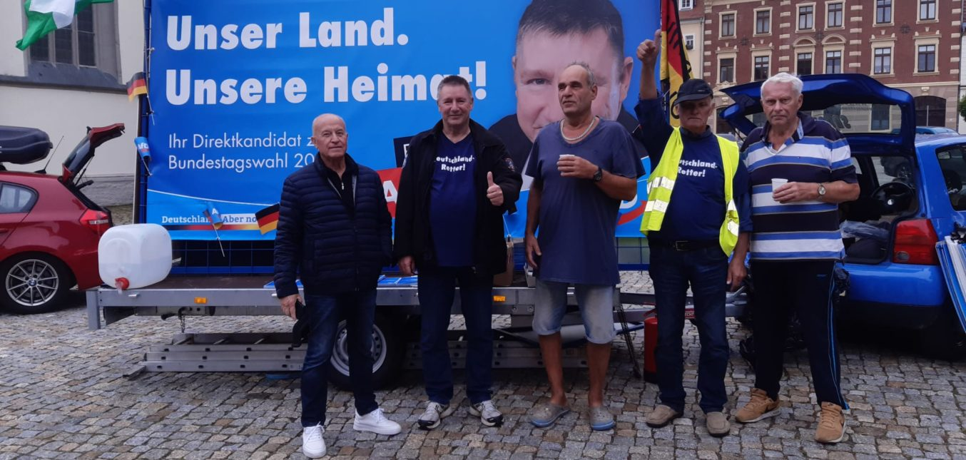Gestern in Pegau!  Schöner Tag mit vielen Bürgern. Dabei auch noch 3 neue Mitgliedsanträge erhalten!😃