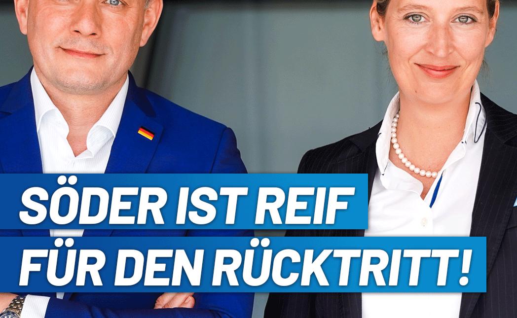 Alice Weidel / Tino Chrupalla: Söder ist reif für den Rücktritt