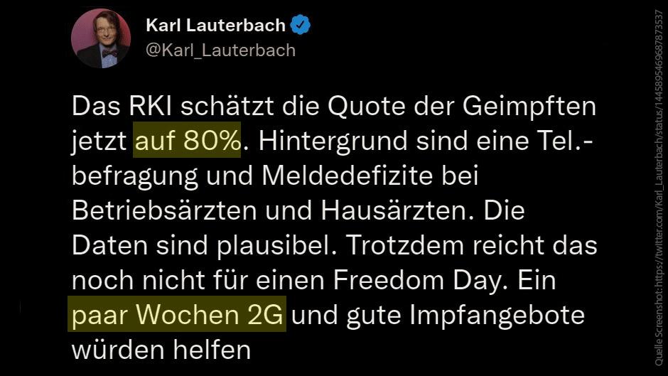 Unfassbare Aussagen: Lauterbach will Ungeimpfte erpressen!